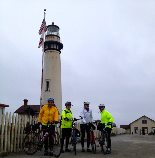 Bike Touring at Pigeon Point